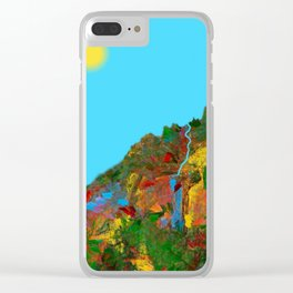 Sky Falls Clear iPhone Case