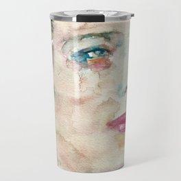 DJUNA BARNES - watercolor portrait Travel Mug