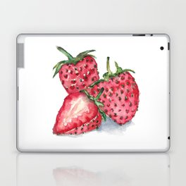 Watercolour Strawberries Laptop & iPad Skin
