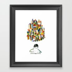 read a city Framed Art Print