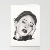 jennifer lawrence Stationery Cards featuring jennifer lawrence by als3