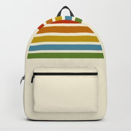 Retro Rainbow Stripes 2 Backpack