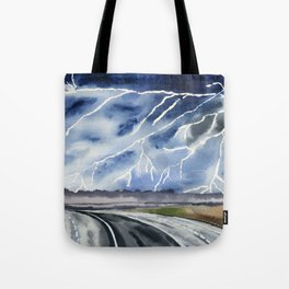 Thunderstorm en route Tote Bag