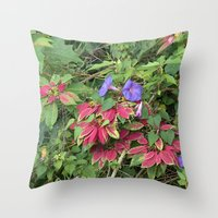 indonesia Throw Pillows featuring Christmas Star (Bali, Indonesia) by Christian Haberäcker - acryl abstract