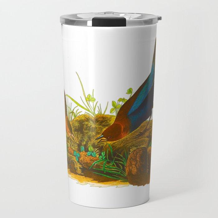 Cow Bird John James Audubon Scientific Birds Of America Illustration Travel Mug