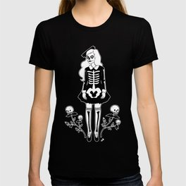 skeleton girl T-shirt