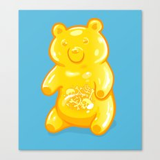 Grizzly Gummy Canvas Print