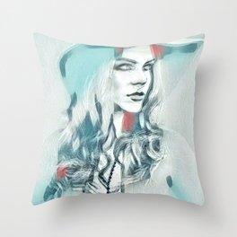 Arctica Rose Throw Pillow