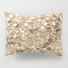 Champagne Gold Lady Glitter #2 #shiny #decor #art #society6 Pillow Sham