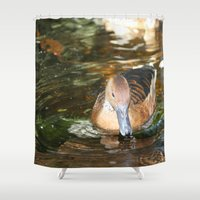 duck Shower Curtains featuring Duck by Twilight Wolf