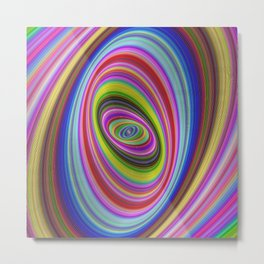 Colorful hypnosis Metal Print