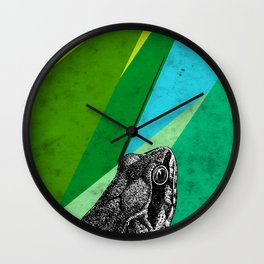 Tropical frog Wall Clock
