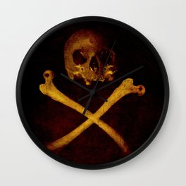 Pirate Skull Wall Clock