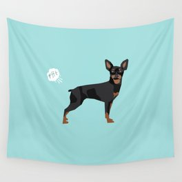 min pin miniature doberman pinscher farting dog cute funny dog gifts pure breed dogs Wall Tapestry