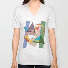 bird and heart two tribes Unisex V-Neck