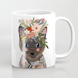 Siamese Cat with Flowers Coffee Mug