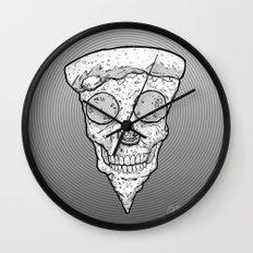 Skull Slice BW Wall Clock