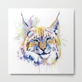 Bobcat Head Metal Print
