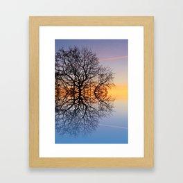 Evening sky trails Framed Art Print