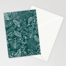 Tropical doodle Stationery Cards