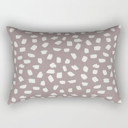 Simply Ink Splotch Lunar Gray on Red Earth Rectangular Pillow