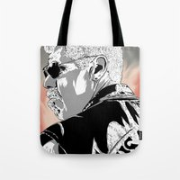 sons of anarchy Tote Bags featuring Sons of Anarchy - Clay Morrow by Averagejoeart