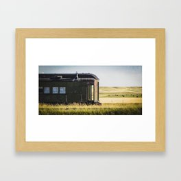 Great Northern Rail Car, Near Coffee Creek Montana Framed Art Print
