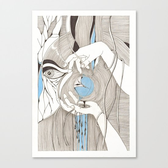 Small blue thing Canvas Print