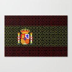 digital Flag (spain) Canvas Print