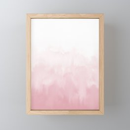 Pink watercolour Framed Mini Art Print