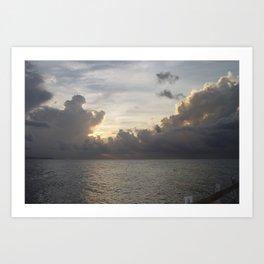 Clouds In Jamaica Art Print