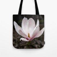 magnolia Tote Bags featuring Magnolia by Guna Andersone & Mario Raats - G&M Studi