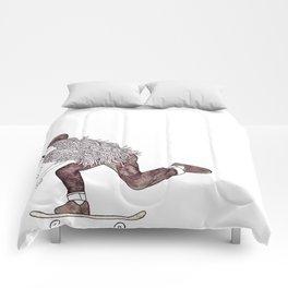 skatebearding (goofy) Comforters
