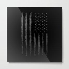 Grey Graunge American flag Metal Print