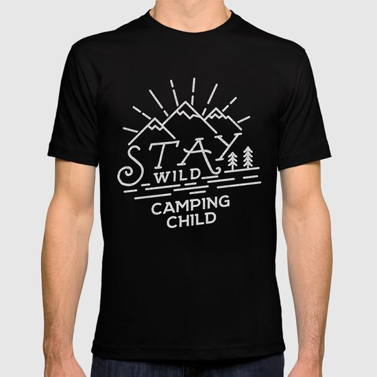 Line Art T Shirt Design : Stay wild line art design t shirt by jeksongraphics