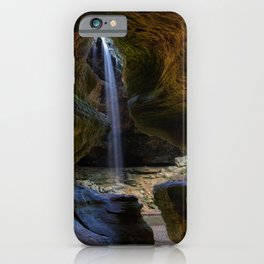 Rock House and Waterfall - Hocking Hills iPhone Case