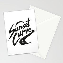Sunset curve Stationery Cards