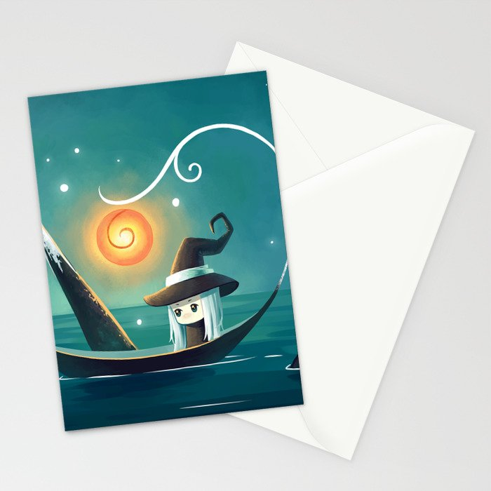 Little Witch 3 Stationery Cards