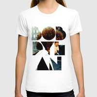 woodstock T-shirts featuring Bob Dylan Font Colour by Fligo