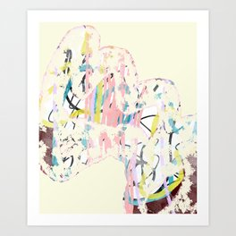 A Nervous Bundle Art Print