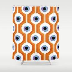 Eye Pod Orange Shower Curtain