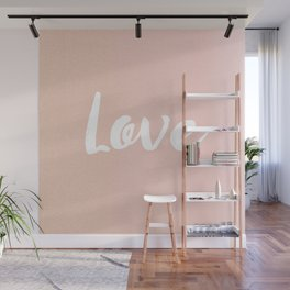 Rose Gold Love Lettering Wall Mural