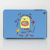 dentist iPad Cases featuring I hate dentist by PINT GRAPHICS