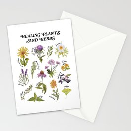 Healing Plants and Herbs Stationery Cards