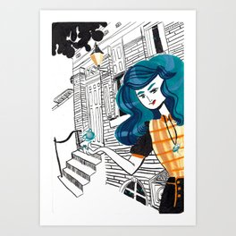 Urban Witch: Water Art Print