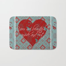 INside and OUt - by Diane Duda Bath Mat