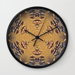 Michaelangelo Turtle Mandala Wall Clock