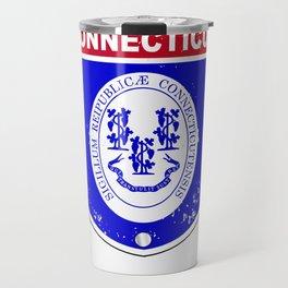Connecticut  Interstate Sign Travel Mug