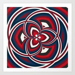 Spiral Rose Pattern A 1/4 Art Print