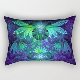 The Clockwork Kite Wings of a Blue-Green Dragonfly Rectangular Pillow